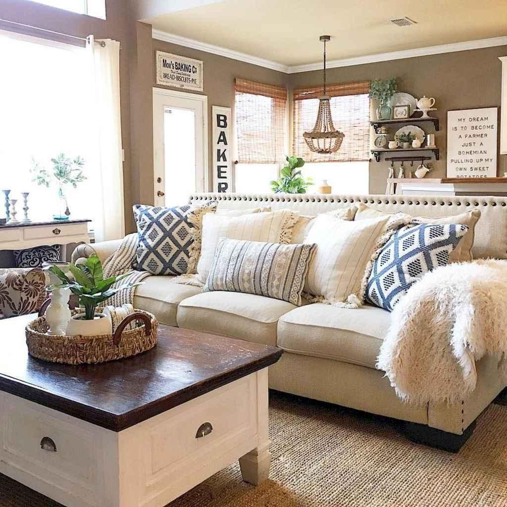 60 modern farmhouse living room first apartment ideas 14 for First apartment living room ideas
