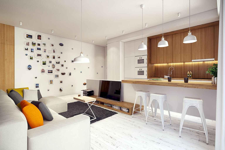 60 modern farmhouse living room first apartment ideas 19 for First apartment living room ideas