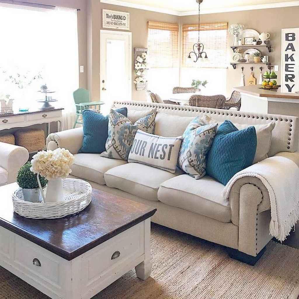 60 modern farmhouse living room first apartment ideas 53 for First apartment living room ideas
