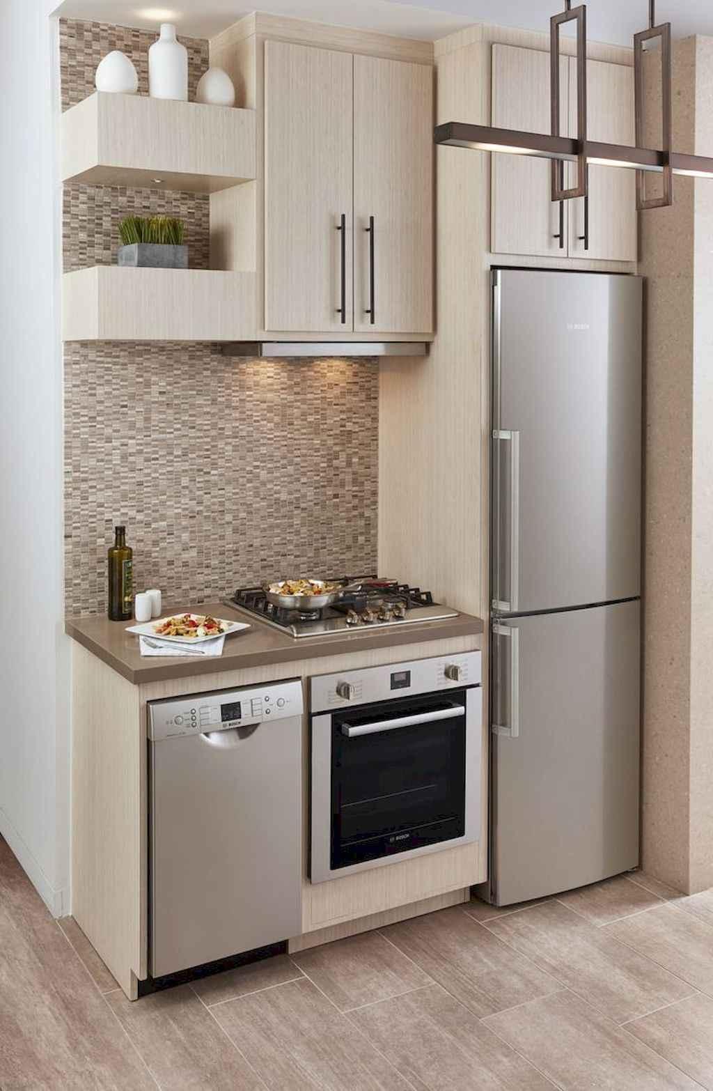 70 Brilliant Small Apartment Kitchen Decor Ideas (16 ...