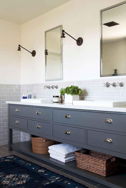 50 Amazing Farmhouse Bathroom Vanity Decor Ideas (48) - CoachDecor.com