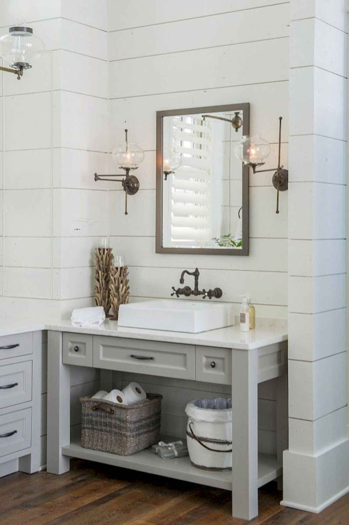 50 Lighting For Farmhouse Bathroom Ideas Decorating And Remodel (9 ...