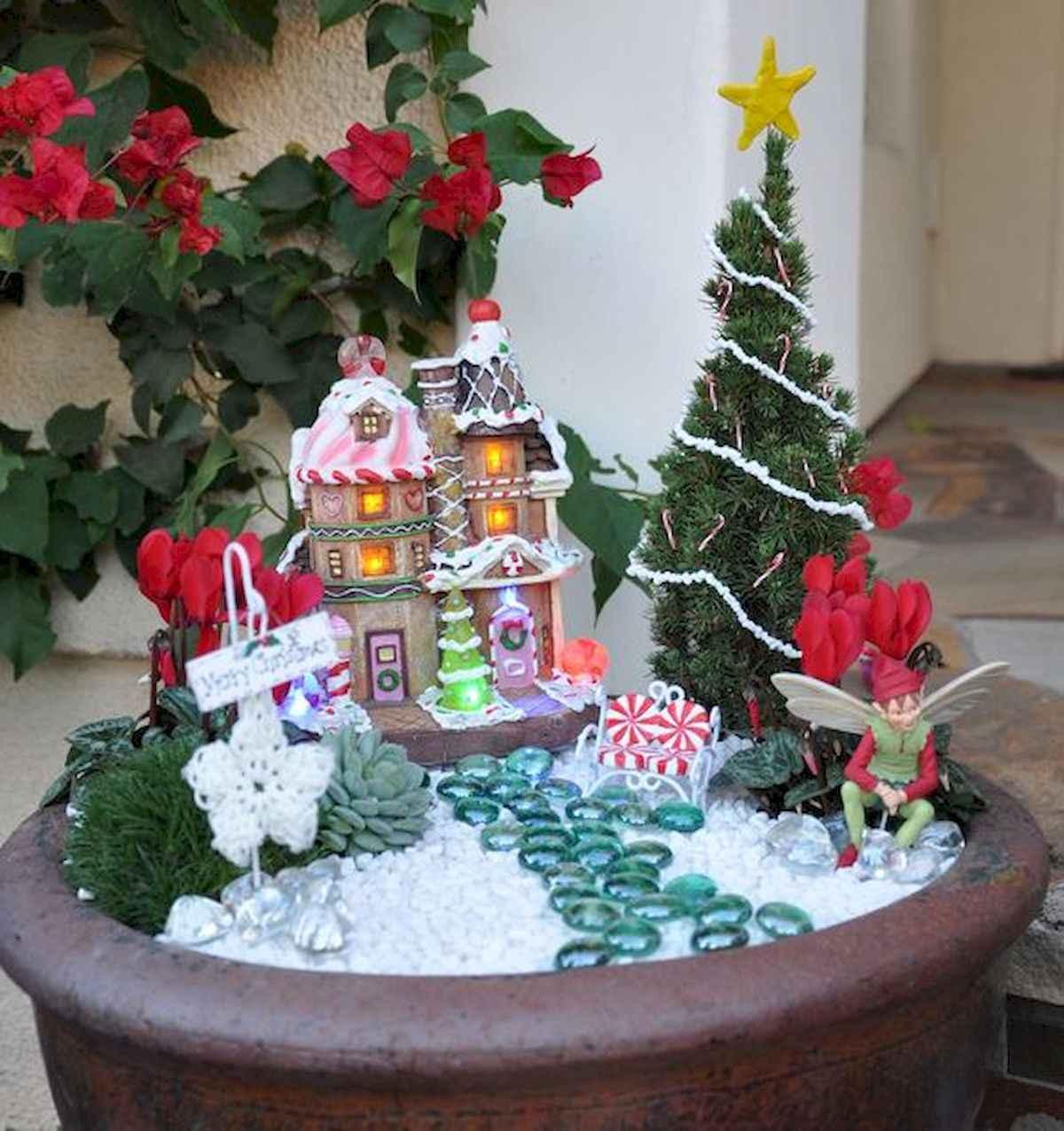 45 Beautiful Christmas Fairy Garden Decor Ideas (28)