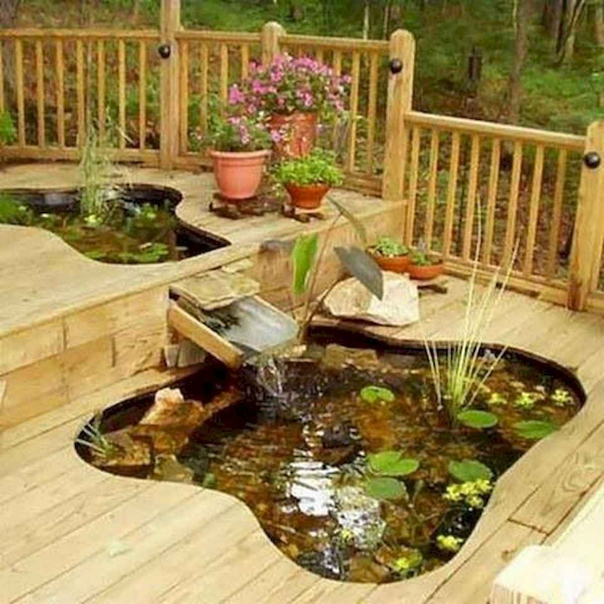 25 Stunning Backyard Ponds Ideas With Waterfalls (23)