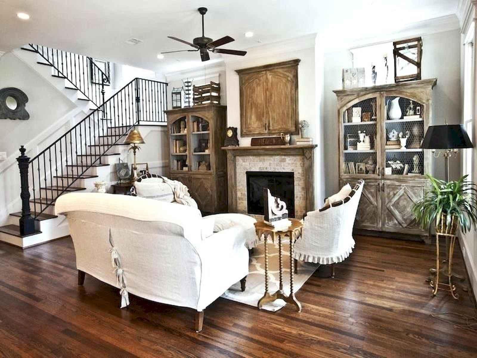 60 Modern Farmhouse Living Room Decor Ideas (38)