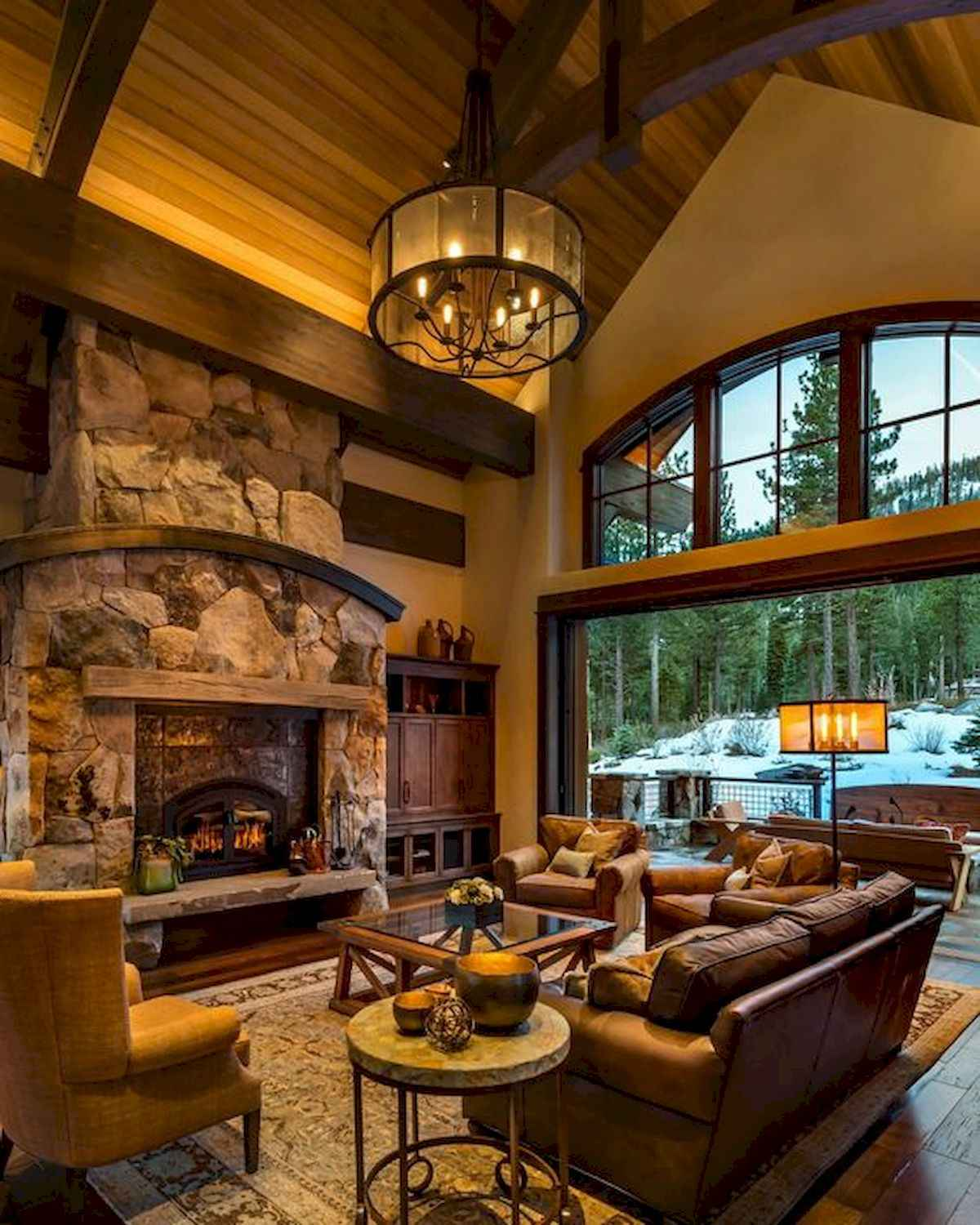 1200 1500 In 60 Stunning Log Cabin Homes Fireplace Design Ideas