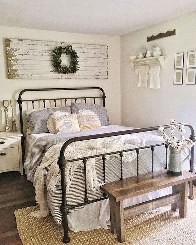 60 Adorable Modern Farmhouse Bedroom Design Ideas And Decor 13