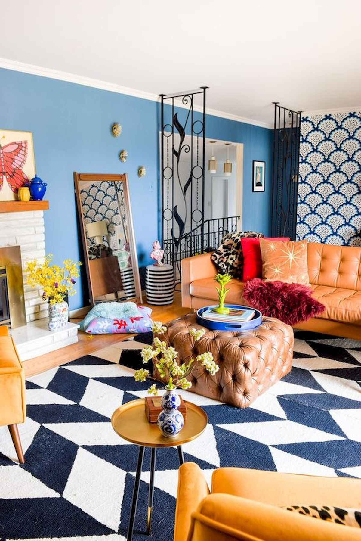 80+ Stunning Colorful Living Room Decor Ideas And Remodel For Summer